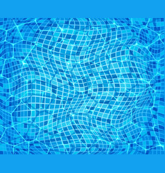 pure blue water in the pool vector image