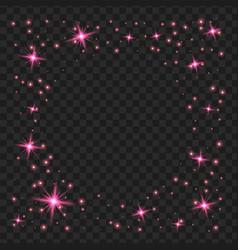 Purple glowing lights shape on black transparent vector