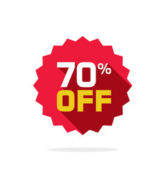 sale tag badge template 70 percent off vector image