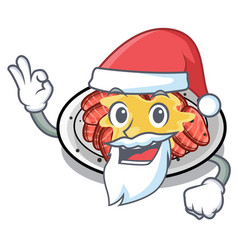Santa carpaccio in a character shape vector