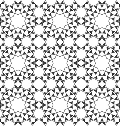 Seamless monochrome ethnic pattern vector