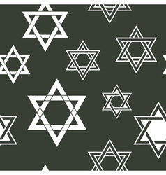 Seamless pattern with star vector