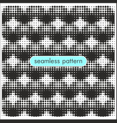 seamless patterns with halftone dots 18 vector image