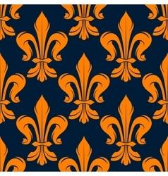 Seamless victorian fleur-de-lis flowers pattern vector