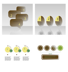 Set abstract infographics number options vector