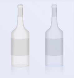 set of of clean bottles vector image