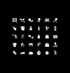 set simple icons tennis vector image