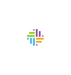 Shape line circle decorative logo vector