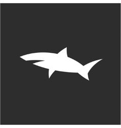 Shark icon sign in monochrome modern logo design vector