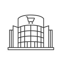 Shopping centre linear icon vector