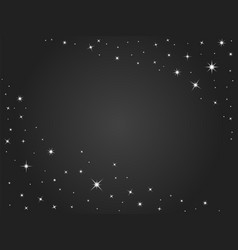 space stars background black night sky vector image