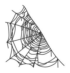 spiderweb icon web made a spider vector image