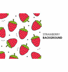 strawberry background vector image