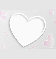 striped valentine background with hearts vector image