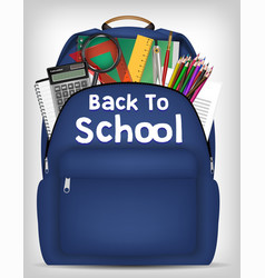 student bag with study object inside vector image