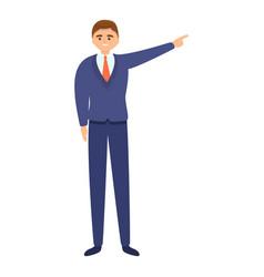 Successful businessman startup icon cartoon style vector