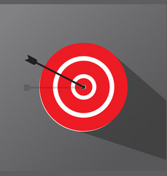 Target icon in shape with a dark background vector