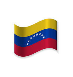 the official flag of venezuela vector image