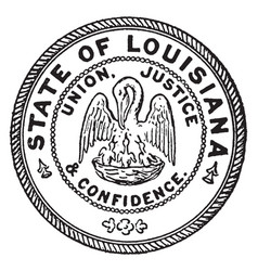 The seal of the state of louisiana vintage vector