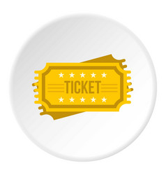 Ticket icon circle vector