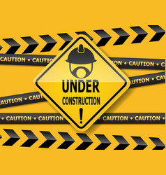 under construction sign work in progress vector image