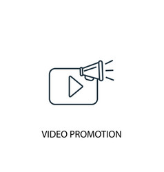 Video promotion concept line icon simple element vector