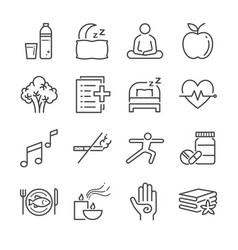 Wellness life line icon set vector