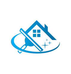 Window washing cleaning logo icon vector