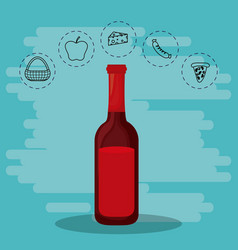 wine for family s vector image