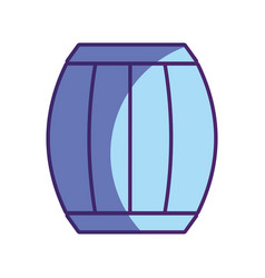 Wood barrel of wine beverage tasty vector