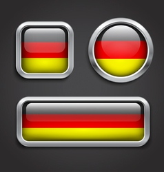 Germany flag glass buttons vector image vector image