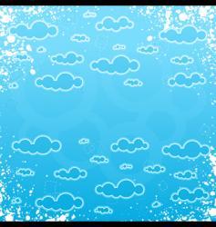 grunge retro cloudscape frame vector image vector image