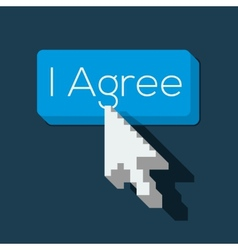 I Agree Button with Arrow Shaped Cursor vector image vector image