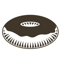 isolated donut sketch vector image