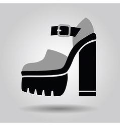 Single women platform high heel shoe icon vector image vector image