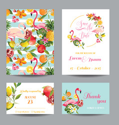 Wedding cards in floral background vector
