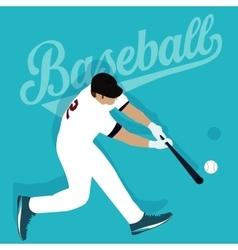 baseball player hit ball american sport athlete vector image