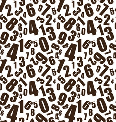 Learning numbers background vector image