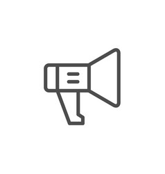 loudspeaker line icon vector image vector image