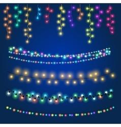 Christmas fairy hanging lights vector