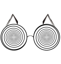 glasses round 1 v vector image vector image