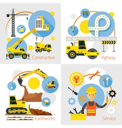 Construction Label Concept Set vector image vector image