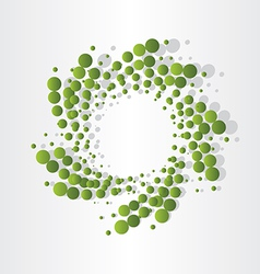 Green atoms micro eco design vector
