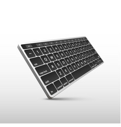keyboard on white background in perspective vector image vector image