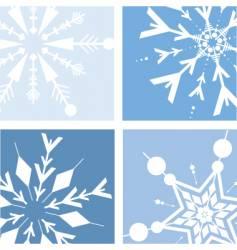 retro snow vector image vector image