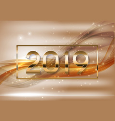2019 abstract new year vector image