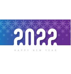 2022 - happy new year bright brochure or calendar vector