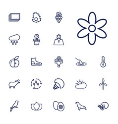22 nature icons vector