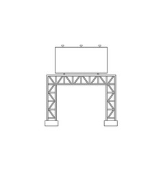 abstract outline drawing space frame structure vector image