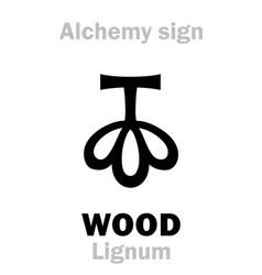 Alchemy wood lignum vector